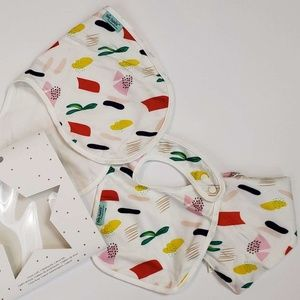 3 piece baby bib & burpcloth set